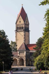 Grabpflege Leipzig - Einsatzorte der Blumenhalle / Friedhöfe : Südfriedhof Leipzig - Krematorium auf dem Südfriedhof in Leipzig