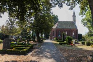 Einsatzorte der Blumenhalle mit Kapelle auf dem Friedhof in Liebertwolkwitz