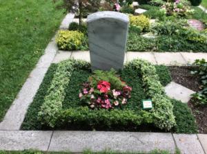Grabstelle für 2 Urnen Grabgestaltung