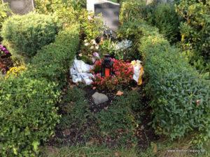 Grabgestaltung Blumenhalle Friedhof Gohlis