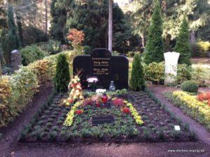 Grabgestaltung doppeltes Erdwahlgrab Südfriedhof Leipzig