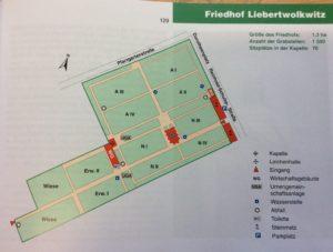 Karte des Friedhofs in Liebertwolkwitz