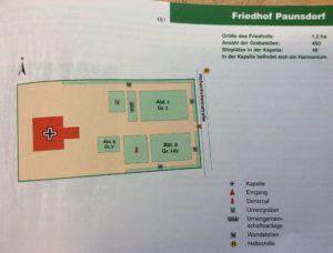 Karte des Friedhofs in Paunsdorf