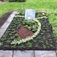 Grabgestaltung der Blumenhalle am Südfriedhof