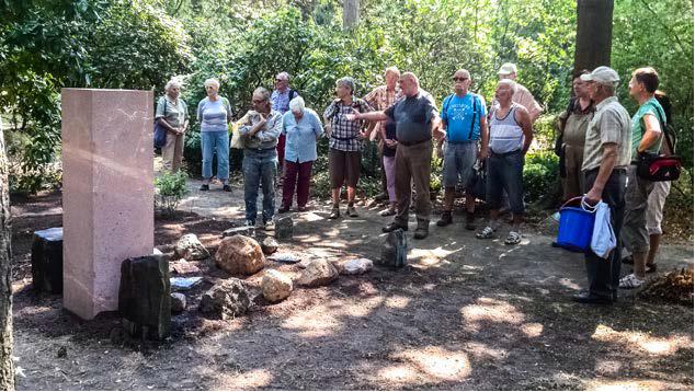 Universitätsgrabstelle Kossmat der Beginn der Grabgestaltung der Geologengräber