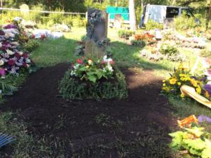 Zum Thema: Grabgestaltung Leipzig - Urnenhügel neu
