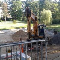 Erneuerung des Teiches auf dem Südfriedhof Leipzig