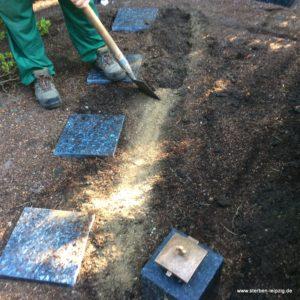 Grabgestaltung Leipzig - so machen wir's - das doppelte Erdwahlgrab