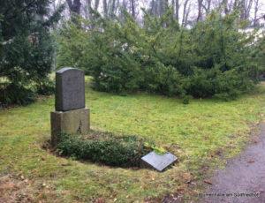 Ältestes Erdreihengrab auf dem Südfriedhof