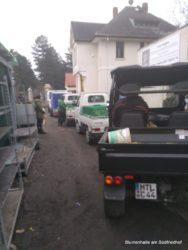 Transport bei der Grabpflege