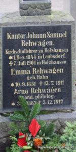 Grabstätte Rehwagen - Friedhof Holzhausen