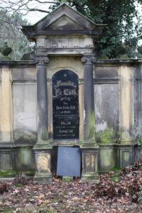 Erste Grabstätte auf dem Friedhof Möckern