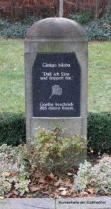 Gedenkstein an Johann Wolfgang von Goethe - Friedhof Möckern