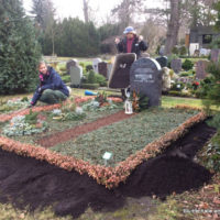 Thema: Grabpflege Leipzig - Erdauffüllung Nordfriedhof