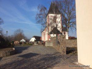 Friedhof Großpösna - Blick auf die Kapelle