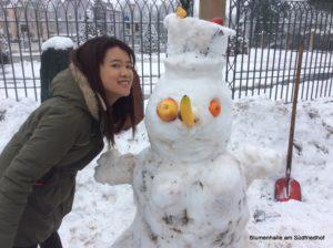 Praktikum im Schnee - Schneefiguren