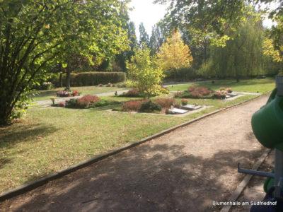 Die Blumenhalle bietet auf dem Friedhof Markkleeberg Grabpflege an