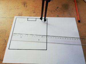 Grabskizze Rahmengehölze einzeichnen