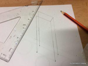 Räumliche Darstellung Grabskizze